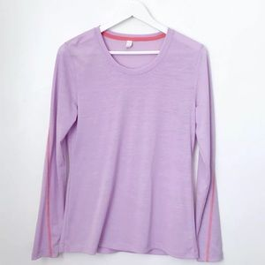 Lucy Activewear Long Sleeve Layering Top Purple